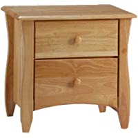 Night & Day Clove 2 Drawer Night Stand Natural