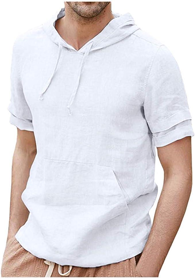 Xmiral T-Shirt Uomo Semplice Tee Maglietta da Uomo Camicia Maniche Corte Camicie Casual da Uomo #69