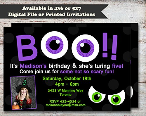 Googly Eyes Halloween, Costume or Birthday Party Invitation, Set of 10 5