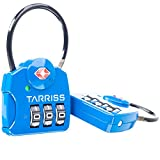Tarriss TSA Lock with SearchAlert (2 Pack) (Blue)