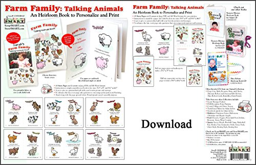 ScrapSMART - Farm Family Childrens Book - Software Collection - Microsoft Word, Jpeg, PDF files for Mac [Download]