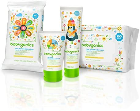 51Huryre4ML. AC - Babyganics Baby Wipes, Unscented, 400 Count, (5 Packs Of 80)
