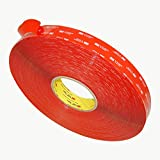 3M VHB 4905 General Purpose Acrylic Adhesive Tape, 20 mils thick, 72 yds Length x 1'' Width, Clear