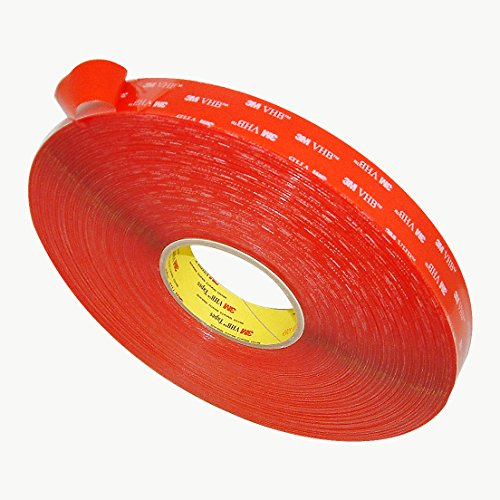3M VHB 4905 General Purpose Acrylic Adhesive Tape, 20 mils thick, 72 yds Length x 1'' Width, Clear by 3M