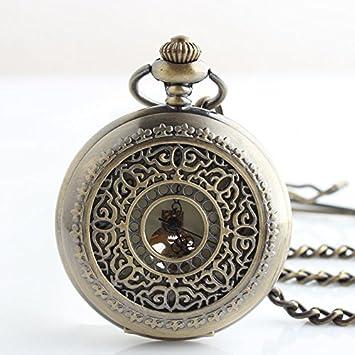 Y&M retro europeo / relojes mecánicos huecos / clásico reloj de bolsillo antiguos modelos / watch