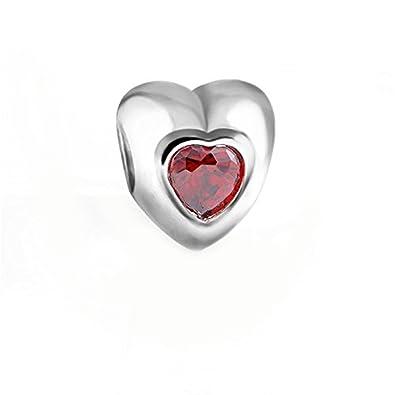 pandora charms cuore rosso