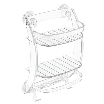 Amazon.com: InterDesign Power Lock Suction Bathroom Shower Caddy ...