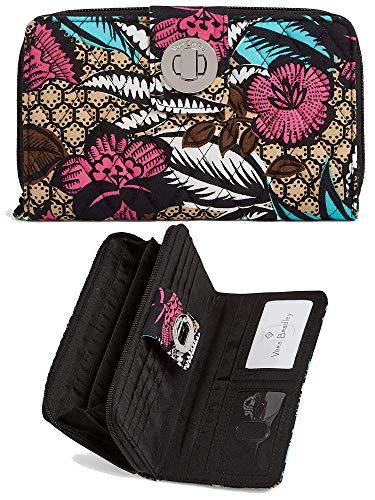 Vera Bradley Women's Turnlock Wallet (One Size, Multi/Canyon - Road Wallet Checkbook