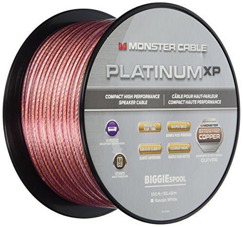 Monster Platinum XP Clear Jacket MKIII 100' Compact Speaker Cable Clear/Copper MC PLAT XPMS-100 WW 140731