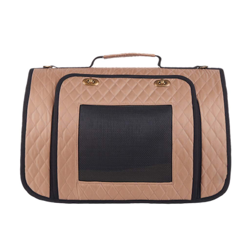 gold S gold S JIANXIN Pet Bag, Pet Carrier, Pet Cage, Portable, Shoulder-mounted, Suitable For Travel, With Pets To The Supermarket (color   gold, Size   S)