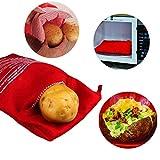 OBTANIM Microwave Potato Bag, 2 Pack of Reusable