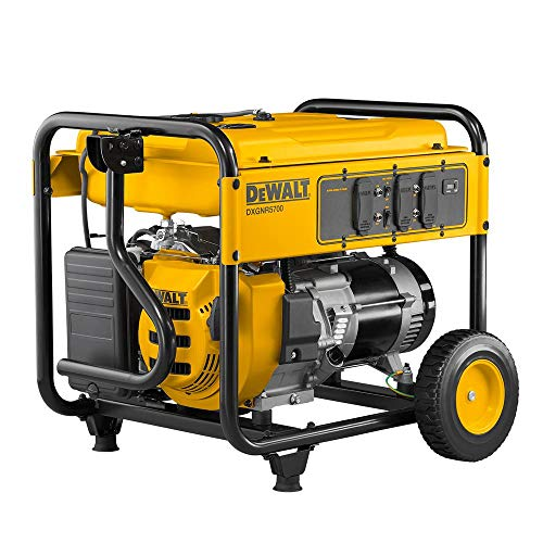 DEWALT DXGNR5700 5,700-Watt Gasoline Powered Recoil Start Portable Generator