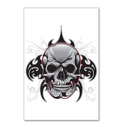 Postcards (8 Pack) Tribal Skull