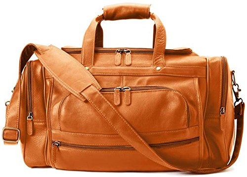 Winn Harness Cowhide Colombian Leather Duffel Bag Tan (Harness Winn Leather)