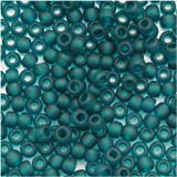 Toho Round Seed Beads 8/0 #7BDF 'Transparent Frosted Teal' 8 Gram Tube