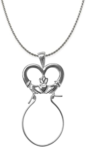 16-20 Mireval Sterling Silver Polished Trumpet Charm on a Sterling Silver Chain Necklace