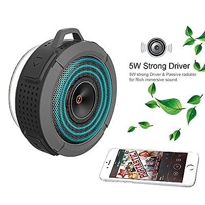 Wireless Bluetooth 3.0 Outdoor & Shower Speaker, Waterproof/3W Speaker/Suction Cup/Mic/Hands-Free Speakerphone from YOOYE