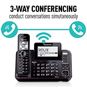 Panasonic Kx-tg9542b Link2cell Bluetooth Enabled 2-line Phone With Answering Machine & 2 Cordless Handset 6