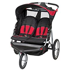 The Baby Trend expedition double jogging stroller makes your job as a parent easier. The dual-seat stroller comfortably fits two children, each up to 50 pounds. It's the ideal way to take twins or close siblings along on daily activities. Thi...
