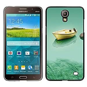 TopCaseStore / la caja del caucho duro de la cubierta de protección de la piel - Boat & Owl - Samsung Galaxy Mega 2
