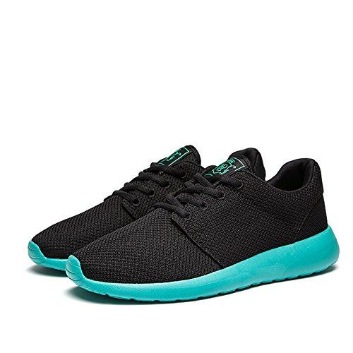 Vort Wei Männer atmungsaktive Laufschuhe, zu Fuß, Beach Aqua, Outdoor, Wasser, Regnerisch, Übung, Drive, Athletic Sneakers Schwarz Grün