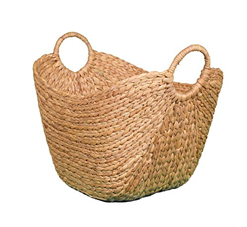 BirdRock Home Water Hyacinth Laundry Baskets (Natural) | One Basket Included | Hand Woven