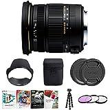 Focus Camera Sigma 17-50mm f/2.8 EX DC OS HSM Zoom Lens for Canon w/Filter, Tripod & Corel Software Bundle
