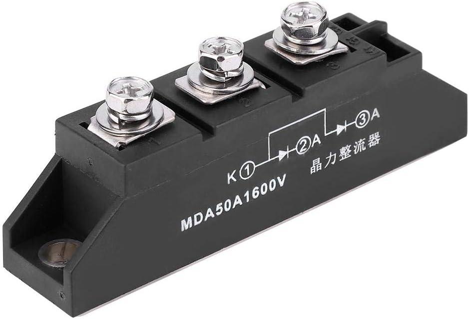 Garosa Raddrizzatore a Ponte Raddrizzatore fotovoltaico a diodi MDA50A 1600V Modulo raddrizzatore di Tensione inversa di Picco Massimo ricorrente ricorrente per Elettronica di Illuminazione