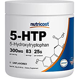 Nutricost 5-HTP Powder 25 Grams (300mg Per Serving)