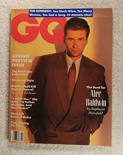 Baldwin Magazine - Alec Baldwin - GQ Magazine - February 1990