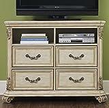Liberty Furniture Messina Estates II Bedroom Media Chest, Antique Ivory Finish