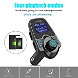 Otium-FM-Transmitter-Wireless-In-Car-Bluetooth-Receiver-Stereo-Radio-Adapter-Car-Kit-Hands-Free-Calling-with-Dual-USB-Car-Charger-Ports-for-Smartphones-Tablets-TF-Card-MP3-and-More