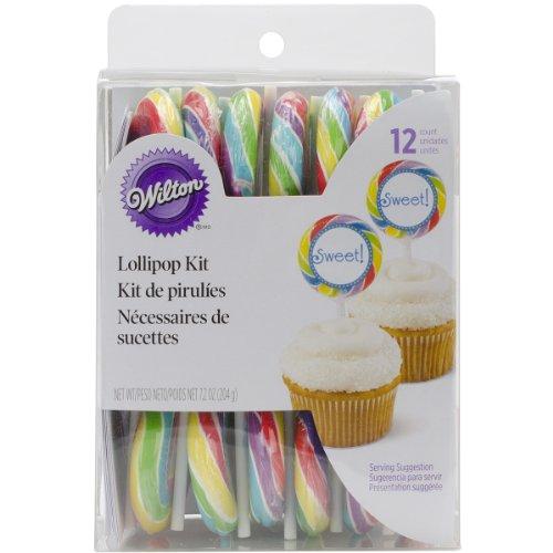 Wilton 1006-0538 Primary Color Lollipop Picks Cake Topper