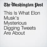 This Is What Elon Musk's Mysterious Digging Tweets Are About | Elizabeth Dwoskin