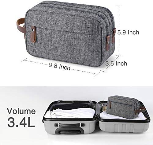 Men Travel Toiletry Organizer Bag Water-resistant Shaving Dopp Kit Bathroom Bag