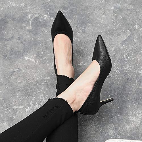 Automne Les Escarpins Femmes A Hauts Talon Chaussures Profonde Vêtements Printemps Et Bouche À Talons Peu B1q4YxAq
