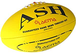 Laema New High Abrasion Australian Rules Football Afl Ball Yellow Size 5