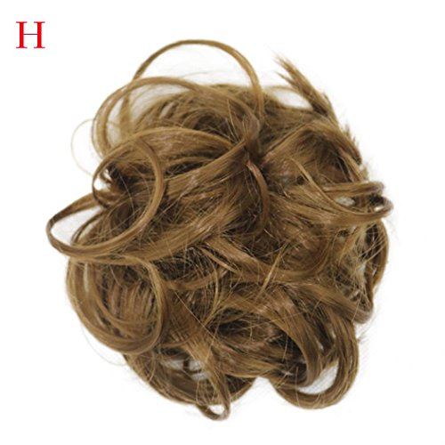 Hemlock Bride Hairpieces Clip On Hair Wigs Women Curly Messy Hair Extensions Hairdressing Wigs (H)