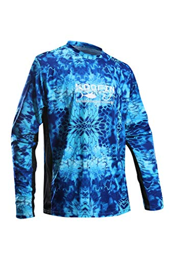 Koofin Performance Hunting Shirt UPF 50+ Men's Tech Long Sleeve Shirt Camo Kryptek Loose Type Pontus XX-Large