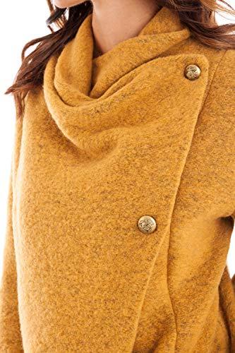 Coat Doucel Azafrán Lana Creaciones Mujer Mi Larga Counter Bouillie qE7wCaxz