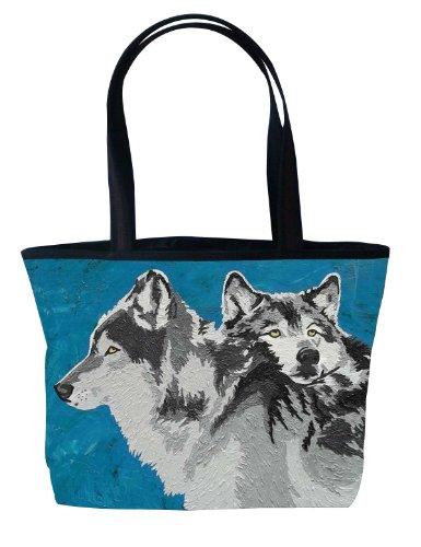 Wolf Shoulder Bag, Vegan Wolves Tote Bag - Animal Prints ...
