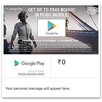 Get Upto Rs.849 Bonus In PUBG MOBILE  Google Play Gift Code - Digital Voucher