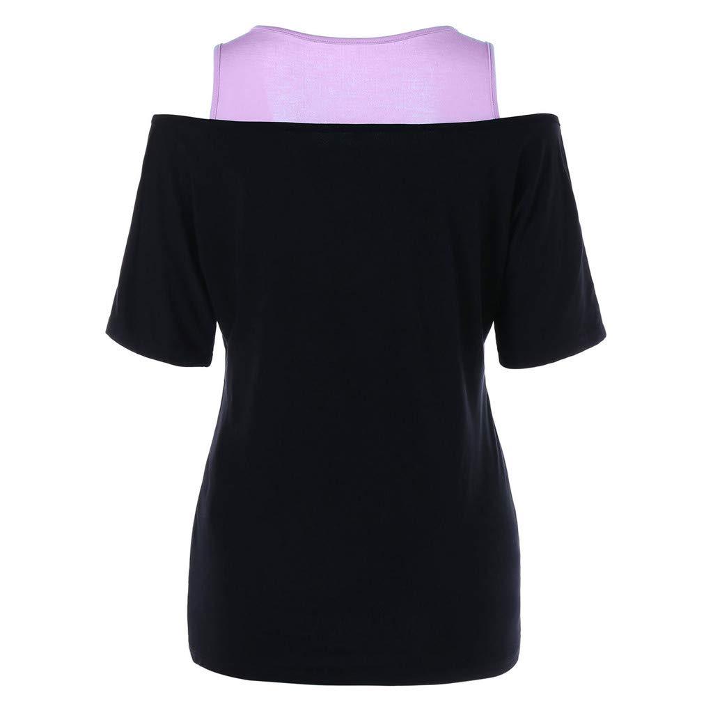 Mlide Womens Summer T Shirt Short Sleeve Loose Casual Button Blouse V Neck T Shirt Tank Tops