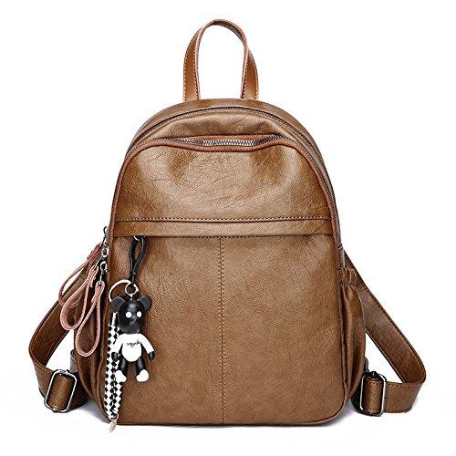 Collège Mode Grande Bag Sac Dames ZHXUANXUAN Dos Capacité Sac Dos à Voyage Simple Brown à AntTXdWPT