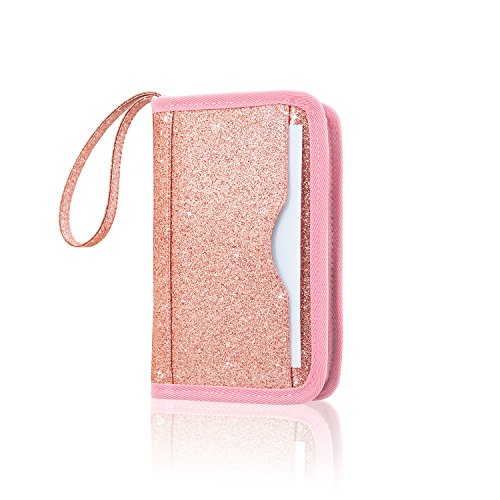 Nintendo New 2DS XL/New 3DS XL Case, ACdream Premium PU Leather Protective Case Bag for New Nintendo 2DS XL / New 3DS XL with Portable, Rose Gold Star of Paris