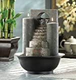 MD-group Eternal Steps Fountain water decoration home tealights glimmer tabletop treasure POLYRESIN CANDLE NOT INCLUDED 8.62'' x 8.62'' x 11''