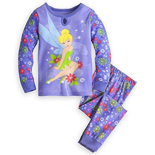 Disney Store Princess Pj (Disney Store Princess Tinker Bell Girl 2 PC Long Sleeve Pajama Set (8))