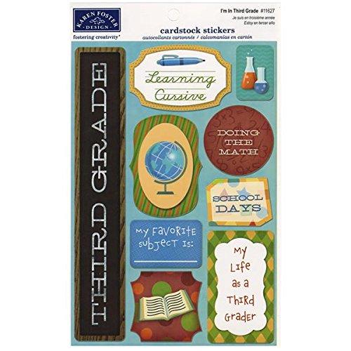 KAREN FOSTER Cardstock Stickers-I'm in Third Grade
