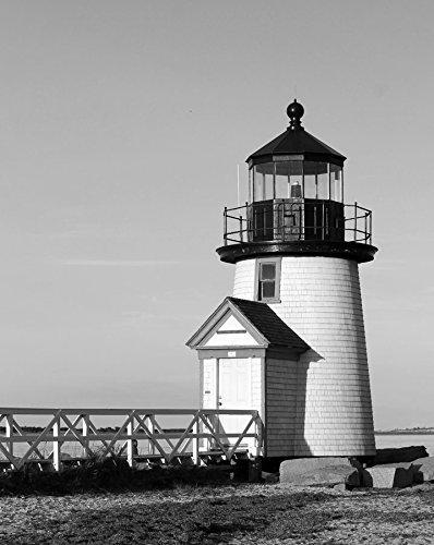 Nantucket Wall Art / Nautical Art - Lighthouse Decor / Lighthouse Art - Brant Point Nantucket Art / Lighthouse Wall Art Black and White Photograph Wall Art