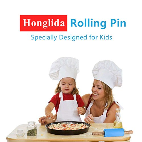 Honglida 9 Inch Silicone Rolling Pin for Kids, Non-stick Surface and Comfortable Wood Handles(Pack of 2) by HONGLIDA (Image #4)